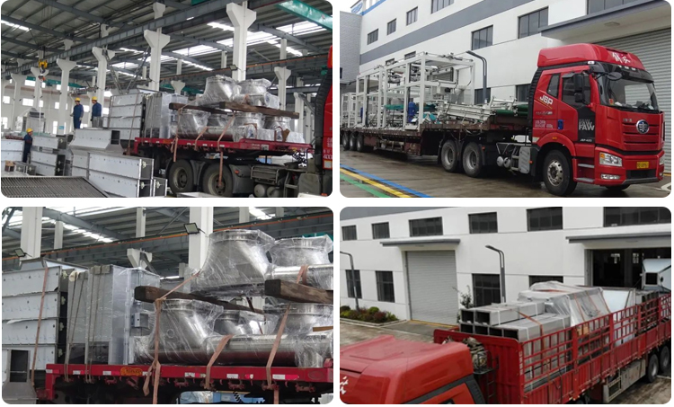 """FDSP 300,000 tons per year pre-mixed sugar complete set of equipment are sent """"To"""" Lianyungang"""