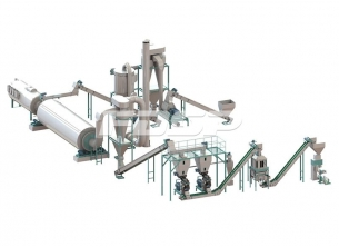 4-6tph crop waste pellet production line
