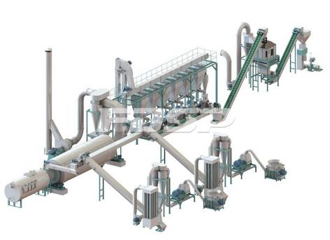 5-7tph biomass straw pelleting line