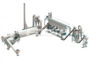4-6tph Palm waste biomass pelleting line
