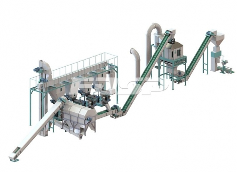 4-6 tph sludge and sawdust mixed granulation production line