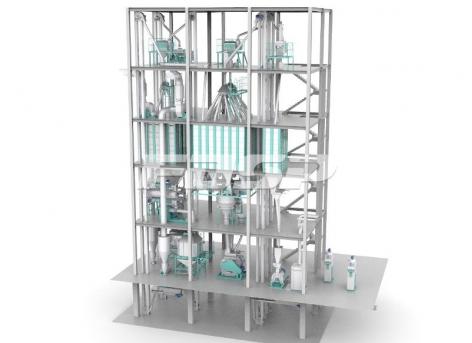 single SZLH420(6-8tph) high grade piglet feed production line