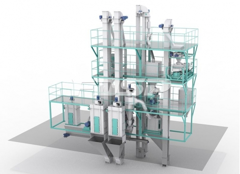 SKJZ5800 Livestock And Poultry Small Feed Plant