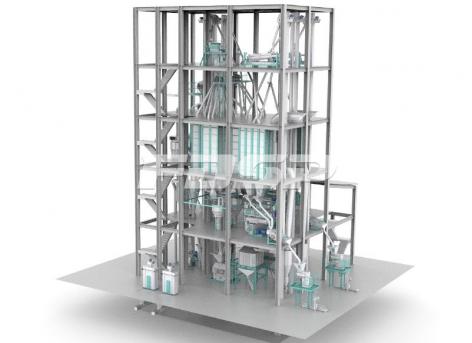 Dual-line SZLH420(15tph) normal aqua feed production line