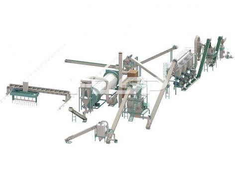 10-12tph cow manure bio-organic pelleting line