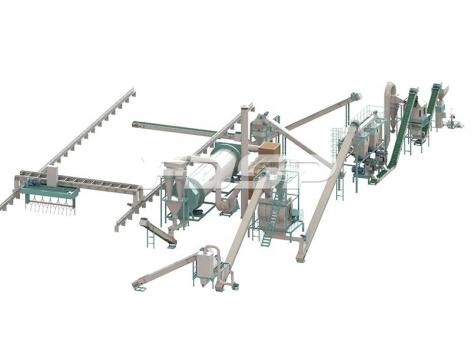 4-5t/h urban living waste bio-organic fertilizer pellet production line