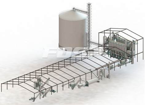10tph leftover material pellet production line