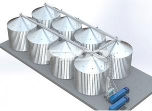 8-4000T Corn Silo Storage Project in Grai
