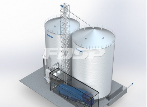Feed industry 1-2000T & 1-3000T corn silo project
