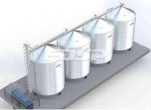 4-3000T storage silo engineering process