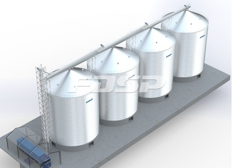 4-3000T storage silo engineering process in building industry