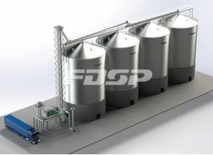 Oil industry 4-2000T soybean steel silo s