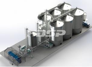 Oil industry 4-1500T&2-2000T oil mill ste