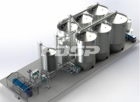 Oil industry 4-1500T&2-2000T oil mill steel silo project