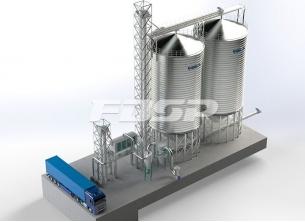 2-1000T wheat steel silo project in brewi