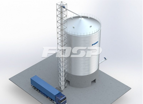 Brewing industry 1-1500T sorghum silo project