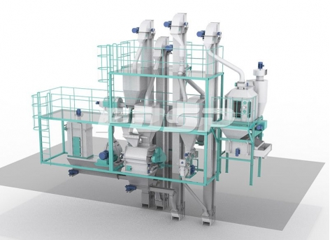 SKJZ3000 Livestock And Poultry Small Feed Plant