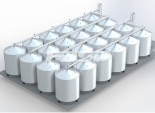 24-3700m³Port maize steel silo project