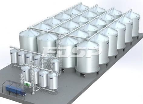 Port 24-2500T soybean steel silo project