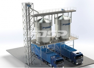 Finished products bulk steel silo project